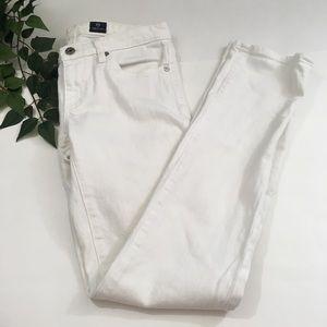 AG The Stevie Slim Straight White Jeans 27